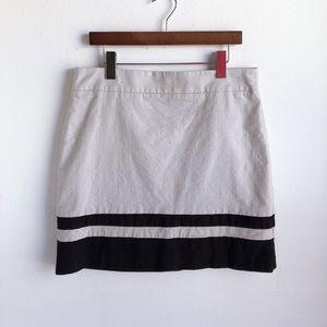 LOFT Colorblock Mini Skirt